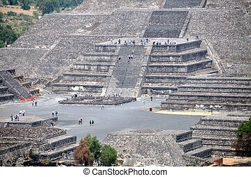 pyramides, teotihuacan, mexique