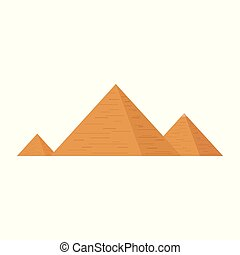 Pyramids flat design icon.