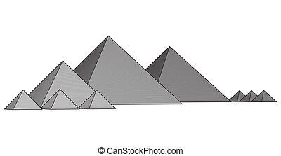 Pyramids From The Giza Plateau