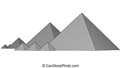 Pyramids From The Giza Plateau - Egypt. Cairo - Giza....