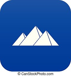 Pyramids in Giza icon digital blue for any design isolated...