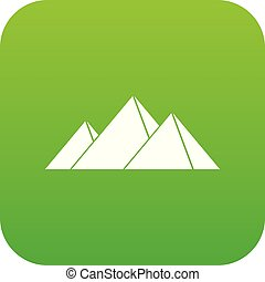 Pyramids in Giza icon digital green for any design isolated...