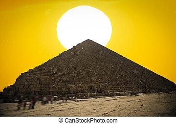 pyramids, of, гиза, в, egypt.