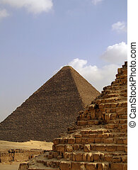 pyramids of giza 33 - one of the great pyramids of giza in...