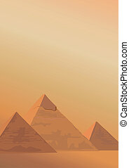 Pyramids of Giza - Background illustration with the Pyramids...