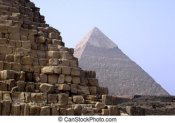 Pyramids of Giza, Egypt - The Great Pyramids of Gizeh,...