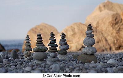 pyramids of stones