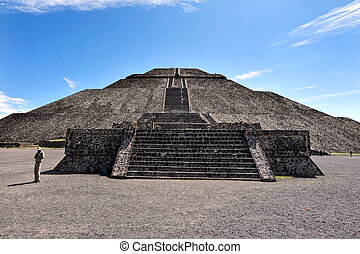Pyramids of Teotihuacan - The pyramid of Sun in Teotihuacan,...