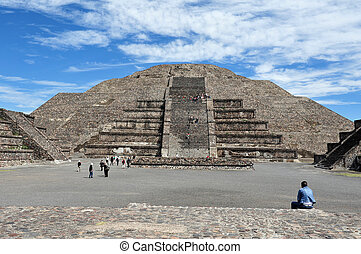 The pyramid of the moon in Teotihuacan, Mexico.