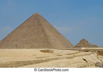 Pyramids at Giseh, Cairo, Egypt