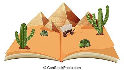 pyraminds, libro, deserto