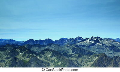 Pyrenees mountains panorama.