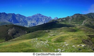 Pyrenees mountains summer landscape - Pyrenees mountains.