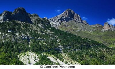 Pyrenees mountains summer landscape