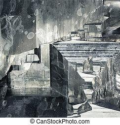 pyrite abstract interior