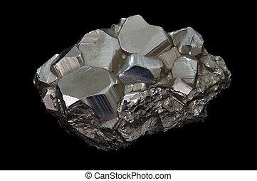 pyrite, mineraal, steen