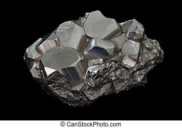 pyrite, mineral, stein
