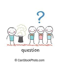 pytać, magik, ludzie