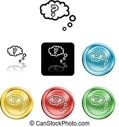 pytanie, pytanie, ikona, symbol