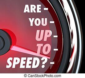 pytanie, ty, szybkościomierz, do góry, szybkość