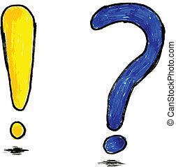 pytanie, wykrzyknik