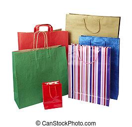 pytel, konzumerismus, prodávat v malém shopping