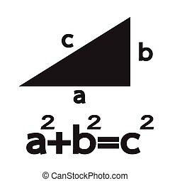 Pythagoras theorem icon Illustration Art