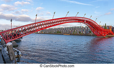 Python Bridge in Amsterdam - Red Python Bridge at Eastern ...