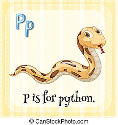 Python - Flashcard letter P is for python