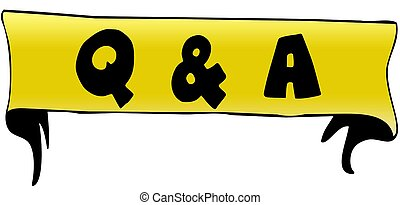 Q A QUESTIONS AND ANSWERS on yellow ribbon illustration