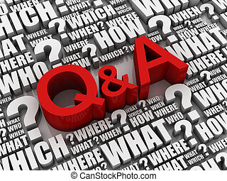 q and a 3d illustration - q and a letters and question ...