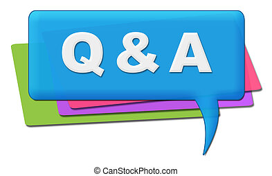 Q And A Colorful Comments Symbols - Q and A alphabets ...