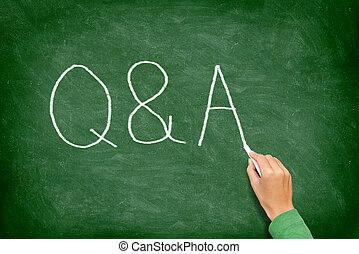 Q and A - Questions and Answers concept blackboard