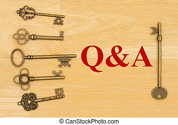 Q and A text with skeleton keys