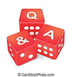 Q and A words on three red dice