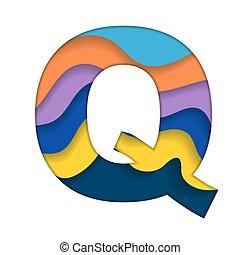 q, barwny, litera
