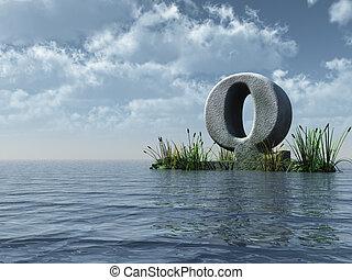 q, carta, monumento