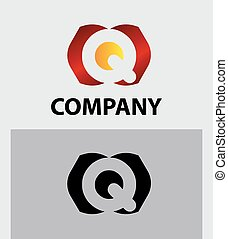 Q company vector logo and symbol