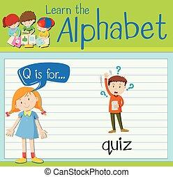 q, flashcard, 手紙, 小テスト
