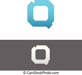 Q Letter Alphabet Abstract vector text logo
