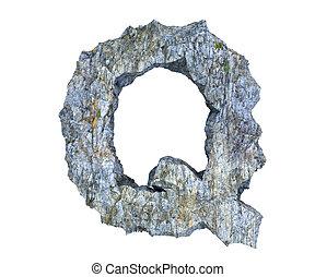 q, lettera pietra