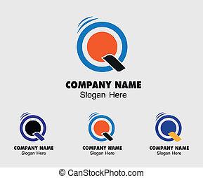 Q logo template - Symbol letter Q