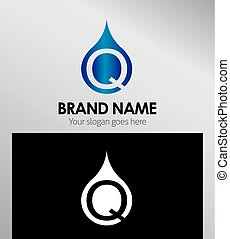 q, logotype, logo., carta alfabeto