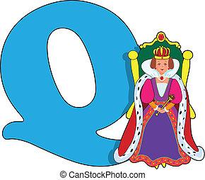 q, regina, lettera