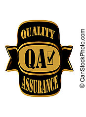 Sticker, stamp or symbol for QA or quality assurance check