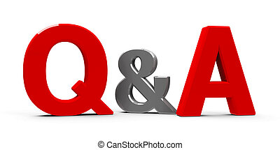 Q&A icon - Red Q&A - Questions and answers - symbol or icons...