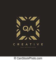 QA initial letter luxury ornament monogram logo template vector art