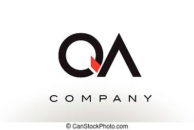 QA Logo.  Letter Design Vector.