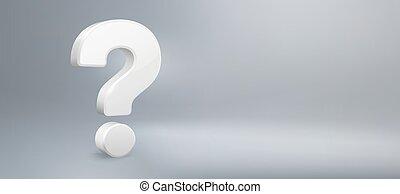 qa., vetorial, perguntas, pergunta, realístico, ter, sinal, faq, fundo, mark., pergunta, ilustração, 3d