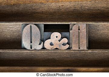QandA wooden tray